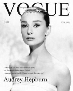 VOGUE AUDREY HEPBURN PRINT 1962 FASHION ART PRINTS A4 HOME DECOR