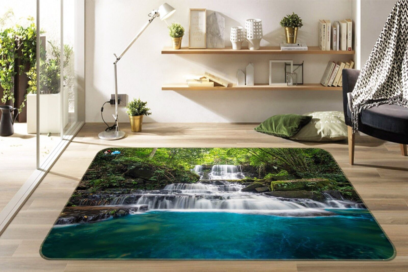 3D Stream 122 tappetino antiscivolo tappeto camera Tappetino Qualità Elegante foto Tappeto UK Estate