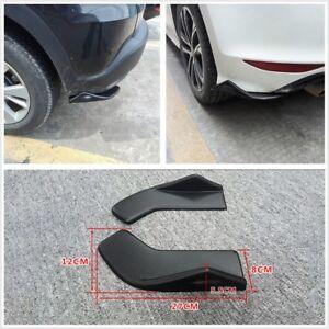 2x Car Bumper Spoiler Rear Lip Canard Diffuser Wrap Angle Shovel Scratch Winglet