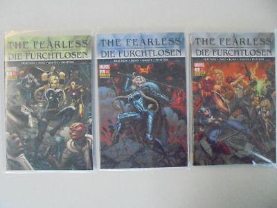 Hilfreich 3x Marvel Panini The Fearless Z.0-1 2012 Die Furchtlosen Nr.1-3