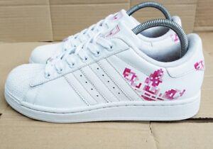adidas superstar bianco e rosa
