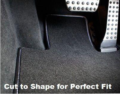 Toyota Supra Mk3 Richbrook Grey Carpet Car Mats with Leather Trim 86-92