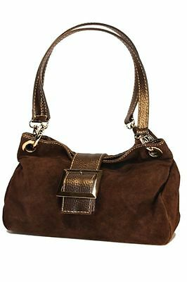 LEDER Handtasche echt LEDER Italy Wildleder Tasche IT BAG Beuteltasche H/M-238