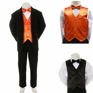 Image Is Loading New Baby Boy Formal Wedding Party Black Suit