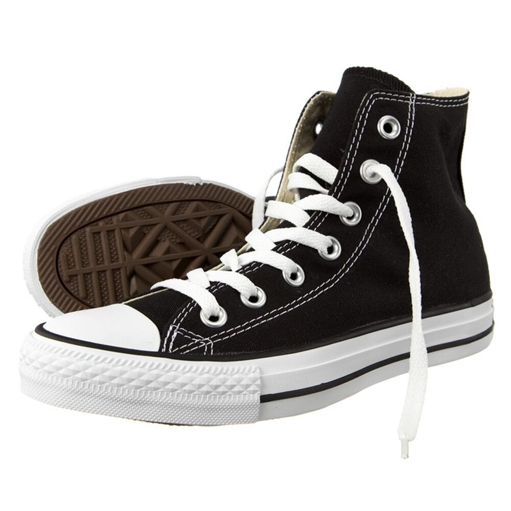 Converse Chuck Taylor All Star HI Schuhe Black Schwarz Chucks Schuhe Herren Dame