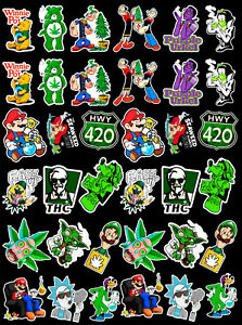 36-Weed-Marijuana-Cannabis-Vinyl-Stickers