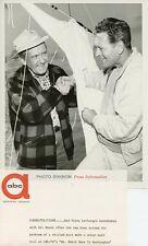 RED FOLEY DEL MOORE SMILE SAILBOAT MR SMITH GOES TO WASHINGTON 1962 ABC TV PHOTO