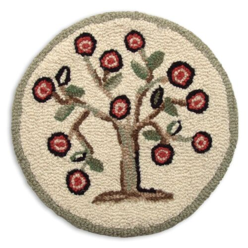 Tree of Life Hooked Wool Chair Pads ~ Sets ~ Chandler 4 Corners--Free Ship