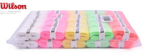 Wilson Tennis Pro Overgrip 50 Pack Mix Comfort Badminton Tape Player WRZ4019AST