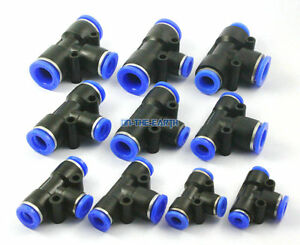 10 Pieces 12 - 8 - 12mm Pneumatic Tee Reduced Union Push In Jointer Connector