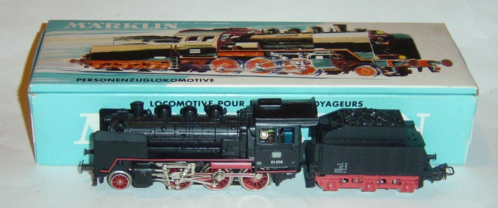 Marklin ho, locomotive BR 24 058 DB ref. 3003 old 3-pole motor digital