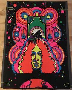 Image Is Loading Arlo Guthrie Vintage Black Light Poster 1970 039