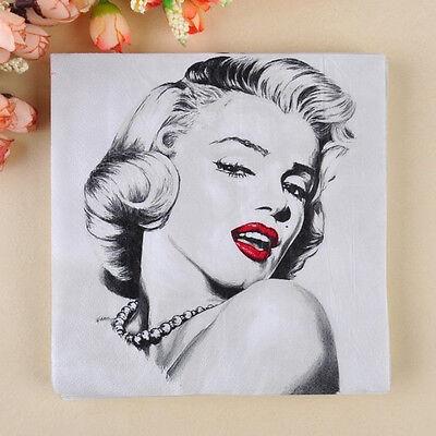 20pcs 33*33cm Food Grade Marilyn Monroe Paper Napkins
