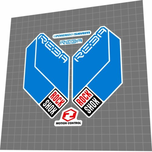 ROCKSHOX Reba RL Dual Air 2011 Fork Sticker Decal Set