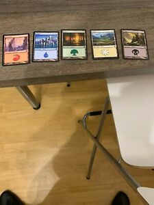 Magic the Gathering - 150 Standardländer/ 30 je Farbe verschiedene Editionen