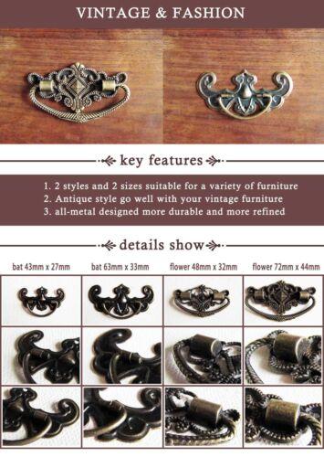 6pcs Antique Brass Bronze Jewelry Box Drawer Cabinet Cupboard Handle Pull Knob