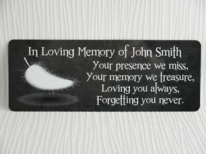 Details About Personalised Memorial Plaque Grave Marker Sign Name Bench Weatherproof
