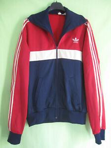 Détails sur Veste Adidas Ventex Tricolore Trefoil 70'S marine bordeaux Vintage Jacket 180