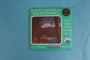 VINTAGE VIEW-MASTER 3D REEL PACKET A187 MOUNT LASSEN-SHASTA COMPLETE UNNUMBERED