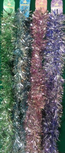 Noël Tinsell Décoration Réduit à Transparent excès Shop STOCK UK GRATUIT P P