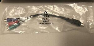Kabel Adapter Mini 7-Pin S-Video Stecker auf RGB 3 x Cinch neu