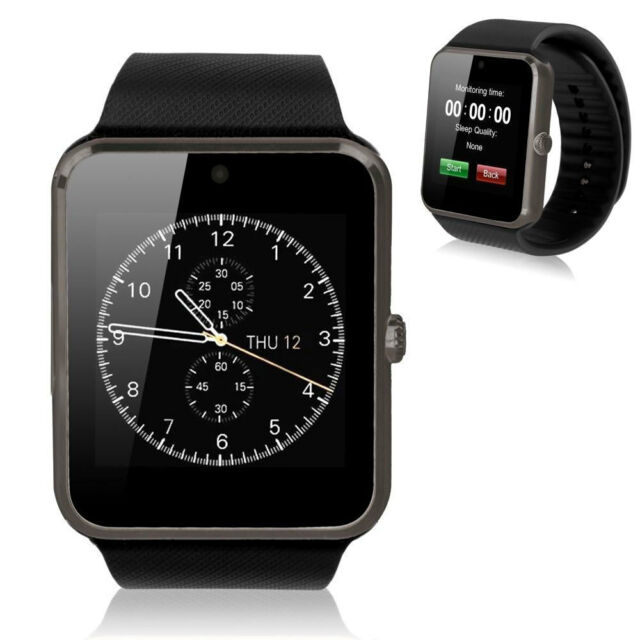 Fad Smart Watch Sync Notifier With Sim Card Bluetooth For IOS&Android Black