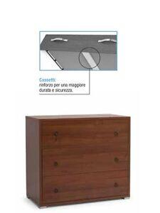 Como\' casa maxy 3 cassetti moderno per camera da letto col.noce ...