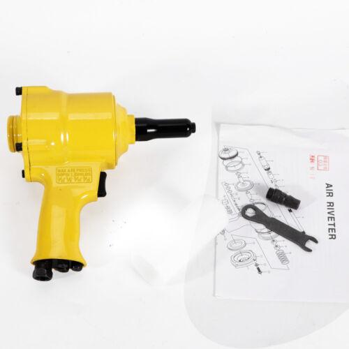 "Portable 1//4/"" Pneumatic Air Hydraulic Pop Rivet Gun Riveter Riveting Tool 90psi"