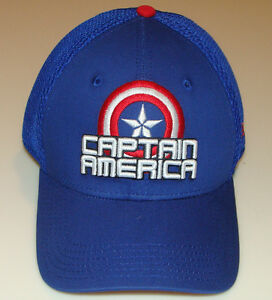 Captain America New Era Cap Hat Flex Fit Stack M L Neo Marvel ... 4b4a865ed2f8