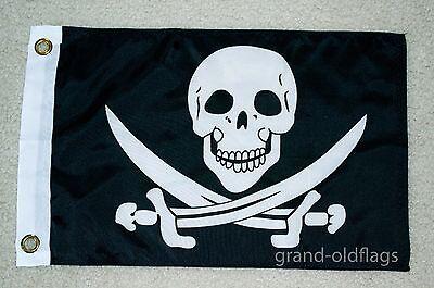 "CAPTAIN JACK RACKHAM PIRATE FLAG 12/""X18/"" BOAT//MOTORCYCLE FLAG"