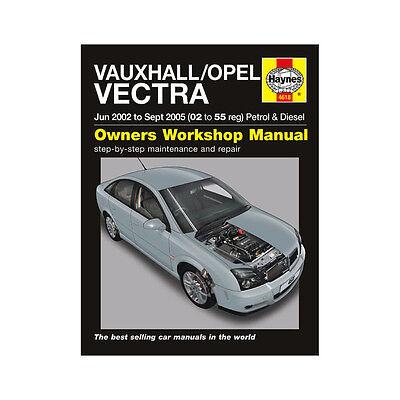 Vauxhall Vectra 1.8 2.2 Pet 1.9 2.0 2.2 Dsl 02-05 (02 to 55 Reg) Haynes Manual