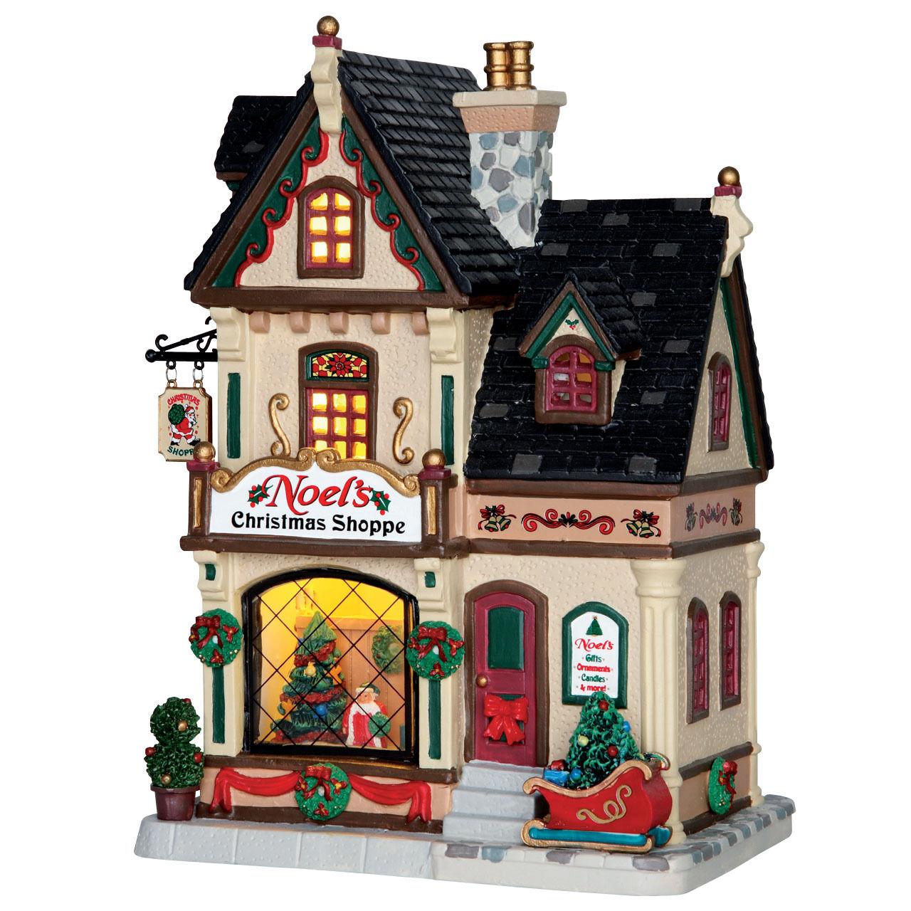 Lemax Lemax Lemax Noel`s Christmas Shop, Weihnachtsdorf, Lichthäuser LED, Weihnachtsdeko 93ceb8