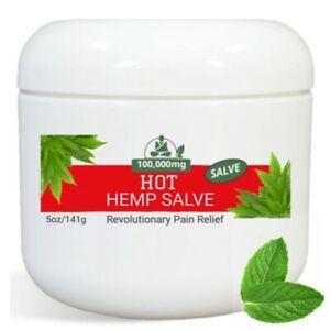 Hot Pain Relief Salve Balm Rub Cream 5oz - Pro Strength for Arthritis Back Joint