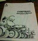 Atari CYBERBALL Arcade Video Game Manual - good used original