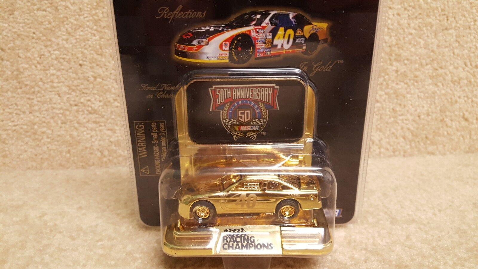 New 1998 Racing Champions 1 64 NASCAR 24K gold Sterling Marlin Sabco Monte Carlo
