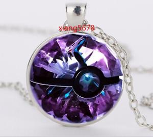 NEW-Silver-Anime-Pokemon-Pokeball-Jewelry-Glass-Dome-Pendant-Necklace