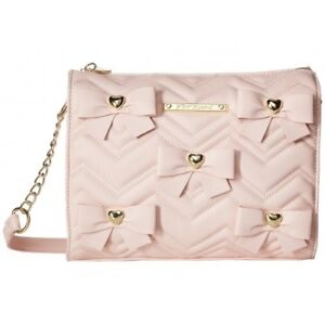 Betsey Johnson Bow Heart Crossbody Bag