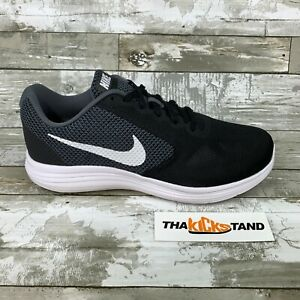 Details about Nike Revolution 3 (4E) Wide Width Mens Running Shoes 819301 001 Black White Grey