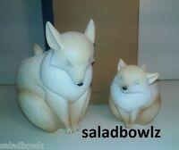 Partylite Mama & Baby Fox Candle Holders P92020 Adorable Instock Freeship