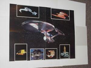 Star-Trek-Poster-6-Movie-Klingon-Battle-Cruiser-Vulcan-Shuttle-USS-Enterprise