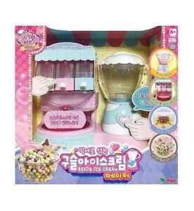Beads-Ice-Cream-Maker-Machine-Kids-Role-Play-Korean-Toy-Frozen-Desserts-VA