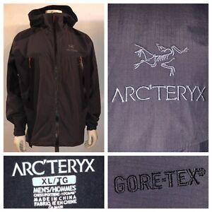 Arc-teryx-Men-s-Black-And-Gray-SL-Hybrid-Gore-Tex-Full-Zip-Jacket-Size-XL