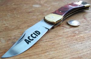 grosses-altes-Messer-mit-schoenem-Echtholzgriff-Schalen-Messing-Farben-echt-GROss