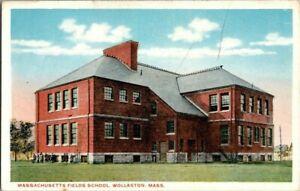 1918-WOLLASTON-MASS-MASS-FIELDS-SCHOOL-POSTCARD-KK2