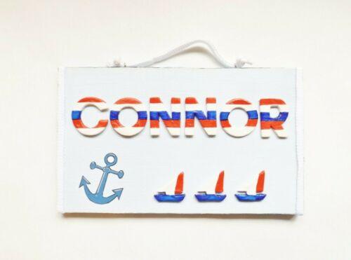 Nautical Name Plaque Bedroom Door Sign Home Decor Personalised Children/'s Gift