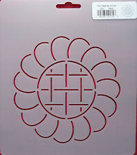 Stencil Quilting Feather Circle 5 1/2 Inch 14cm quilt stitch embroidery 174 QC