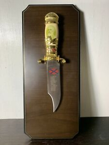The Confederate States Knife On A Plaque