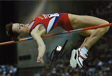 Yelena Slesarenko Russland Olympia Gold 2004 Autograph Leichtathletik (M-4857