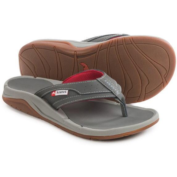 d08e653d1fb Simms Strip Flip Flops Size 8 Lead Closeout for sale online