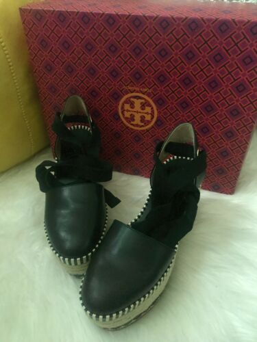 Tory Burch Dandy Leather Espadrille Size 5